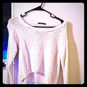 Brandy Melville cropped neutral sweater